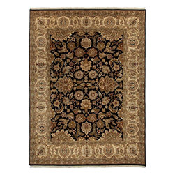 Jaipur Rugs - Hand-Knotted Oriental Pattern Wool Black/Tan Area Rug ( 2x3 ) - Jaipur 's most popular collection, Atlantis, merges traditional patterns with sophisticated and distinctive color stories rooted in blue, brown, ebony, gold, and red. Hand-knotted by master artisans, this stunning range boasts world-class hand-spun wool and an exceptional weave. Atlantis melds the classic beauty of hand-knotting with the palettes coveted by today's new traditionalist.