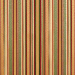 Green, Gold Burgundy Shiny Thin Striped Faux Silk Upholstery Fabric By The Yard - This upholstery fabric feels and looks like silk, but is more durable and easier to maintain. This fabric will look great when used for upholstery, window treatments or bedding. This material is sure to standout in any space!