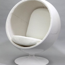 Ball Chair, White -