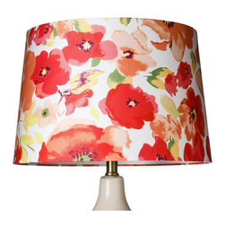 "Threshold Floral Lamp Shade, Large - ""Hello, beautiful!"" — that's the kind of statement this bold, colorful floral lamp will make in your living room or bedroom. Pair it with a white lamp base for a truly gorgeous piece."