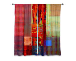 "DiaNoche Designs - Window Curtains Lined by Hooshang Khorasani Color Storm Abstraction III - DiaNoche Designs works with artists from around the world to print their stunning works to many unique home decor items.  Purchasing window curtains just got easier and better! Create a designer look to any of your living spaces with our decorative and unique ""Lined Window Curtains."" Perfect for the living room, dining room or bedroom, these artistic curtains are an easy and inexpensive way to add color and style when decorating your home.  This is a woven poly material that filters outside light and creates a privacy barrier.  Each package includes two easy-to-hang, 3 inch diameter pole-pocket curtain panels.  The width listed is the total measurement of the two panels.  Curtain rod sold separately. Easy care, machine wash cold, tumble dry low, iron low if needed.  Printed in the USA."