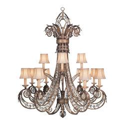 Fine Art Lamps 171740 A Midsummer Nights Dream Patina Chandelier - 12 Bulbs, Bulb Type: 60 Watt Candelabra; Weight: 78lbs