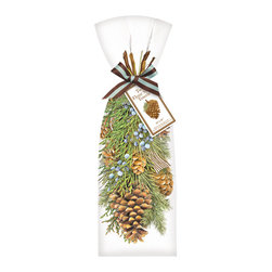 Mary Lake-Thompson Ltd. - Hanging Pine Towel, Set of 2 - Don't get caught empty handed at gift giving time. Keep a stash of these hanging pine dish towelsm wrapped and ready for the moment you realize you forgot about the piano teacher … and the dog walker … and your mailman.