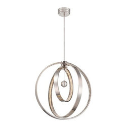 Metropolitan - Metropolitan N6995-613-L Winter Solstice LED Polished Nickel Oval Chandelier - Features: