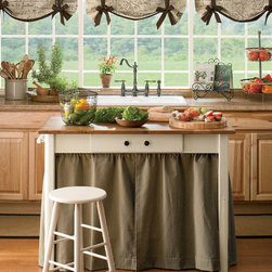 Parisian Note Tie-Up Valance - Create a French Market theme in your rooms with our stylish Parisian tie-up valance in easy to decorate neutral colors.