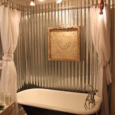 Farmhouse Bathroom by Acadian Builders