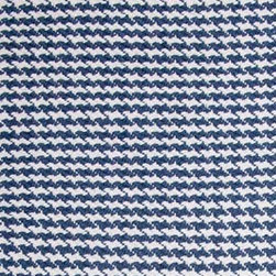 Hook & Loom Rug Company - Hounds Tooth Denim/White Rug - Very eco-friendly rug, hand-woven with yarns spun from 100% recycled fiber.  Color comes from the original textiles, so no dyes are used in the making of this rug.  Made in India.