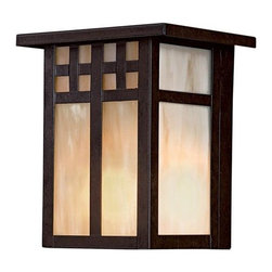Minka-Lavery - Minka-Lavery Scottsdale II 1-Light Pocket Lantern - 8601-A179-PL - This 1-Light Outdoor Foyer Hall Fixture has a Bronze Finish and is part of the Scottsdale II Collection.
