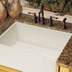 "Franke Fireclay Apron Fronts 33"" Single Bowl Farmhouse Sink 20'' L x 33'' W x 10 - 33"" Single Bowl Farmhouse Sink"