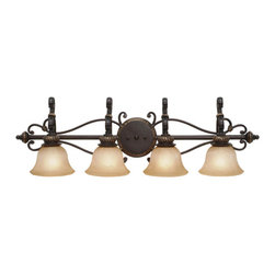 Golden Lighting - Jefferson 4-Light Vanity - Old world charm meets modern decor
