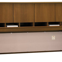 "Bush Series C 72""W Overhead (4 Door) in Warm Oak"