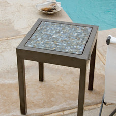eclectic outdoor tables by Iron Accents