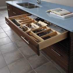 Getting Organized with Fieldstone Cabinetry - Cutlery storage