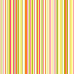 Murals Your Way - Simple Stripe - Pink Orange Wall Art - Painted by Jenean Morrison, Simple Stripe - Pink Orange wall mural from Murals Your Way will add a distinctive touch to any room