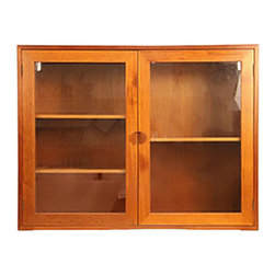 Midcentury Teak Wall Cabinet - Mid-Century Modern teak cabinet with three shelves and bracket for wall mount.  Revitalized by Mission Avenue Studio.