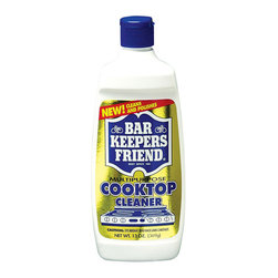 Bar Keeper's Friend - Set of 2 Bar Keepers Friend Cooktop Cleaner 13 oz - The Set of 2 Bar Keepers Friend Cooktop Cleaner safely removes stains from ceramic cooktops and cleans glass. It is specially designed and formulated to give a spotless, streak free shine. The liquid is made to work with any cooktop surface, old to modern.