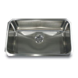 """Nantucket Sinks - Nantucket Sink ns43-9-16 - 30"""" large Rectangle Single Bowl Undermount Stainless - This undermount is the popular large rectangle kitchen sink. Perfect single bowl for multiple kitchen applications. The NS43 is available in  9"""", and 11"""" depths."""