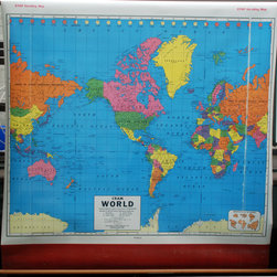Vintage Cram's Pull Down Simple School Wall Map the by Windsor Place Antiques - I have always loved these pull-down maps. One of these would be a beautiful focal point in a room.