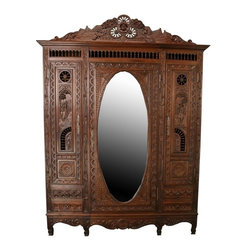 EuroLux Home - 1880 Consigned Antique Armoire Brittany Carved - Product Details