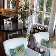 Contemporary Family Room by Heather Garrett Design