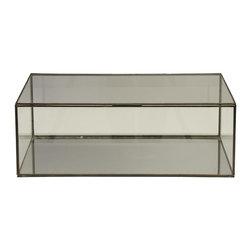 Worlds Away - Worlds Away Box-Clear Glass - Rectangular clear glass box.