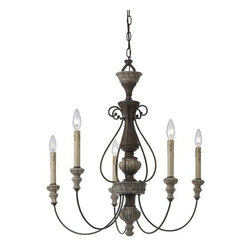 Cal Lighting - Cal Lighting FX-3535/5 5 Light Williams Metal / Resin Chandelier - Features: