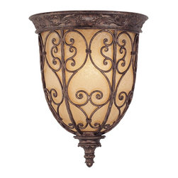 Savoy House - Rowen 1 Light Half Moon Sconce - Rowen is a beautiful collection from Savoy House that has graceful scrolls, a rich New Tortoise Shell finish and Cream Excavated Glass.