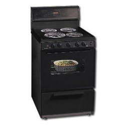 """Premier - ECK340B 24"""" Freestanding Electric Range with 4 Coil Elements  3 cu. ft. Oven Cap - The ECK340 Series perfect for any home With a full size oven and closed door broiling option you can keep your kitchen cleaner and cooler Also comes with a storage drawer except where noted to store all your pots and pans With a removable oven door a..."""
