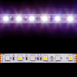 EnvironmentalLights - RGBDW 5050 ColorPlus LED Strip Light 60/m 12mm wide Foot - Sold by the 5 meter reel, foot and sample kit.