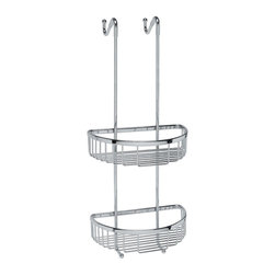 WS Bath Collections - Filo Hanging Shower Basket in Polished Chrome - Made in Italy. Product Material: Brass. Finish/Color: Polished Chrome. Dimensions: 9.5 in. W x 9.8 in. L x 21.7 in. H