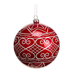 Silk Plants Direct - Silk Plants Direct Filigree Pattern Glass Ball Ornament (Pack of 4) - Pack of 4. Silk Plants Direct specializes in manufacturing, design and supply of the most life-like, premium quality artificial plants, trees, flowers, arrangements, topiaries and containers for home, office and commercial use. Our Filigree Pattern Glass Ball Ornament includes the following: