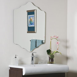 None - Vandam Frame-less Bathroom Mirror - The Vandam Frame-less Mirror creates a powerful presence in any room. The diamond shaped frame-less mirror is the newest in contemporary European design focused on form,function and fashion at its best.