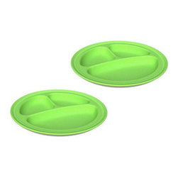 Green Toys - Green Toys Green Eats Divided Plates  Green , 2 Pack - Sure, you can see immediately that the Green Toys Green Eats Divided Plates in Green are green in color, but what you may not know is that their greenness goes way beyond their surfaces!.