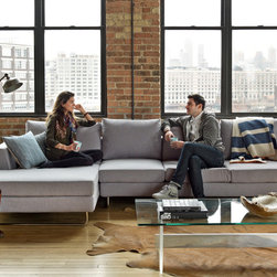Asher Fabric Sectional by Interior Define -