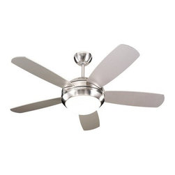 """Monte Carlo - Monte Carlo Discus II 5 Blade 44"""" Indoor Ceiling Fan - Light Kit and Blades Incl - Features:"""