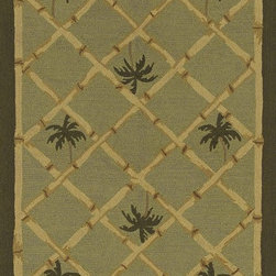 """Dalyn - Contemporary Terrace 5'x7'6"""" Rectangle Fern Area Rug - The Terrace area rug Collection offers an affordable assortment of Contemporary stylings. Terrace features a blend of natural Fern color. Hand Hooked of Polypropylene the Terrace Collection is an intriguing compliment to any decor."""