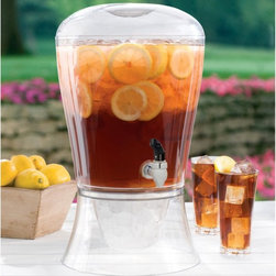 Creative Bath - Creative Bath 3 gal. Beverage Dispenser - RM-BEV-DSPNSR - Shop for Beverage Dispensers and Servers from Hayneedle.com! Perfect for summer gatherings and parties the Creative Bath 3 gal. Beverage Dispenser makes entertaining a large group easy and stylish. It keeps 3 gallons of your favorite refreshing drink beautifully presented and easy to access. Made in the USA of durable yet lightweight clear acrylic this drink dispenser features a sturdy spigot and wide-mouth lid that makes it easy to fill with iced tea lemonade soda juice water or your favorite adult beverage. You can also fill the base with ice for additional cooling.About Creative BathFor over 30 years Creative Bath has developed innovative stylish bathroom decor items. They have grown exponentially and now you can find their products in major retail and online stores around the world. From shower curtains to soap dishes and everything in between Creative Bath brings you high quality items to enhance your lifestyle.