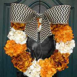 "Hand Made Wreaths - I am so very humbled that this wreath has gone ""viral"" on Pinterest, nearing 1000 repins in only two weeks!"