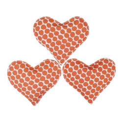 Hable Construction Clementine Beads Heart Sachets (Set of 3) - Keep your dressers and linen closets smelling fresh with these darling, lavender-filled sachets.