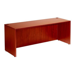BossChair - Boss Desk Shell, 71W x 36D, Cherry - The Desk shell is the foundation of the laminate grouping This executive size 36 x 71 shell is constructed of high pressure laminate with a 3mm edge banding. The cam lock construction makes for easy assembly. And a variety of pedestal options compliments the grouping. Used either as a free standing desk or as the main component of a work station, this Cherry laminate unit will afford years of dependable use.