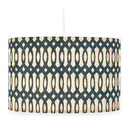 Galbraith & Paul Helix Pendant Lamp - The Philadelphia-based studio workshop Galibraith & Paul knows block-printed textiles like no one else. Each of their pendant light fixtures is handmade in elegant, modern designs. Use this to add a more permanent glow to your living space.