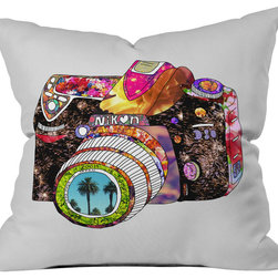 DENY Designs - Bianca Green Picture This Outdoor Throw Pillow - Do you hear that noise? it's your outdoor area begging for a facelift and what better way to turn up the chic than with our outdoor throw pillow collection? Made from water and mildew proof woven polyester, our indoor/outdoor throw pillow is the perfect way to add some vibrance and character to your boring outdoor furniture while giving the rain a run for its money. Custom printed in the USA for every order.