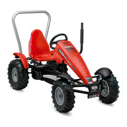 "BERG - BERG New Holland BF-3 Pedal Kart - This tractor pedal kart is an ""in the dirt"" kind of toy!  Licensed by Case International Harvester, it's a tractor for those who only like the red tractor.  I remember the one that grandpa had!"