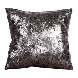 Howard Elliott - Silver Fox 20 x 20 Pillows - Change up color themes or add pop to a simple sofa or bedding display by piling up the pillows in a multitude of colors, textures and patterns. This Silver Fox Pillow features a faux fur texture with metallic finish