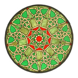 """Meyda Tiffany - Meyda Tiffany 51527 20"""" W X 20"""" H Knotwork Trance Medallion Stained Glass Window - Spectacular and delicate, the 20"""" Width X 20"""" Height Knotwork Trance Medallion Stained Glass Window by Meyda Tiffany is a fantastic selection. Upgrade your decor with this refined tiffany window. Features:"""