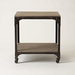 Anthropologie - Decker End Table - *Caster legs