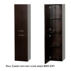 Wyndham - Accara Bathroom Wall Cabinet - Espresso - Meet another stunning Wyndham Collection exclusive - the Accara Bathroom Wall Cabinet.
