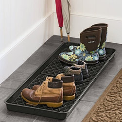 Large Boot Tray Set - A large boot and shoe tray like this guy will be a lifesaver for this spring (and winter and fall) season.