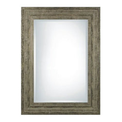 """Uttermost - Uttermost 11217 B Hallmar Beveled Mirror With Wood Frame - Uttermost 11217 B Hallmar MirrorThis solid wood frame features a lightly distressed silver leaf finish with black undertones and light gray glaze. Mirror has a generous 1 1/4"""" bevel.Features:"""