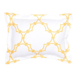 Quatrefoil Bedding - A yellow bed is a happy bed!
